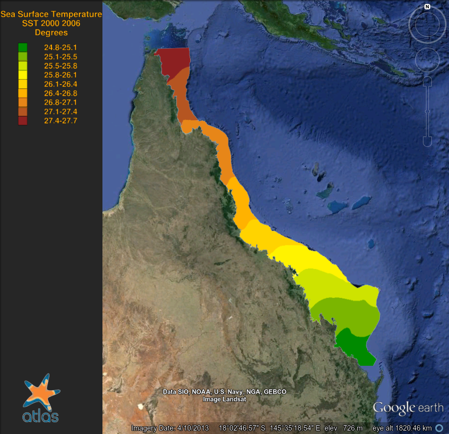 Worksheet. Historic Sea Surface Temperature of the Great Barrier Reef 1870