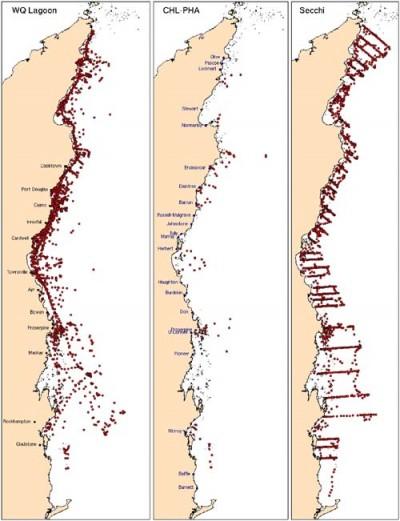 GBR water quality sampling sites