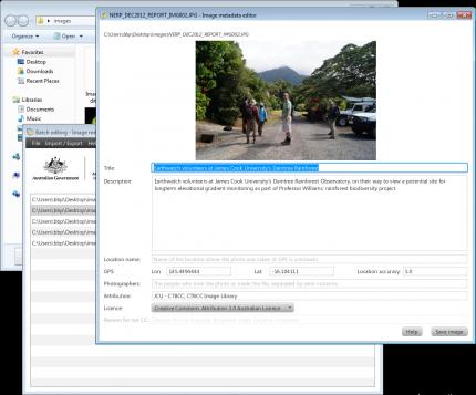 Editing the metadata of an image using the Image Metadata Editor