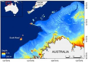 North west oceanic shoals map