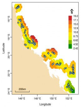 Mapping diversity of corals of the GBR