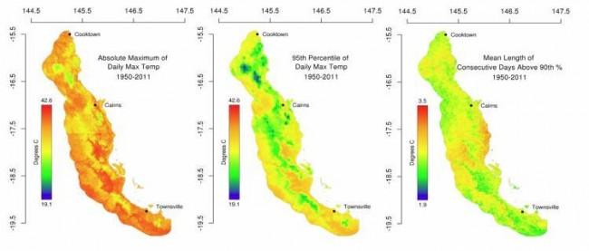Wet Tropics thermal exposure