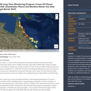 View the LTMP Manta Tow metadata to access data download.