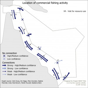 Location of commercial fishing activity