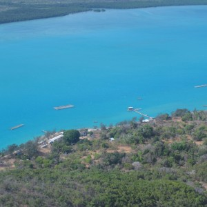 Gialug Island - Aerial view pearl farm