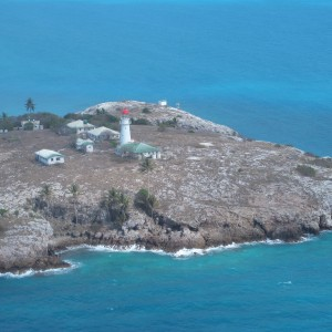 Booby Island - Aerial view of light house