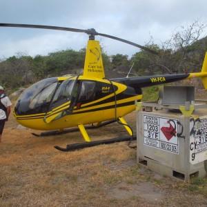 Dauan Island - Helicopter refueling