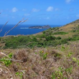 Mer Island - Dowar Island in distance