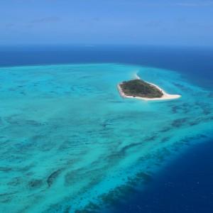 Aerial View of Zuizin Island (Halfway Island)