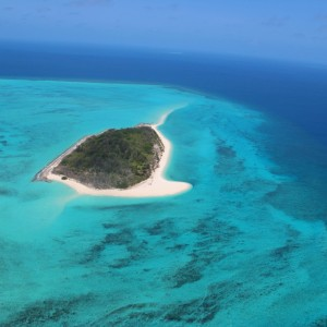 Zuizin Reef (Halfway Island) - Aerial view