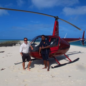 Woiz Reef - Helicopter, Frank Loban and Pilot