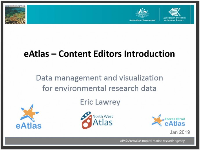 eAtlas introduction for content editors - 2019-01