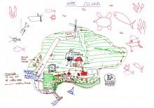 """""""Best Case"""" future scenario for the Torres Strait in 2090. Cairns, October 2012"""