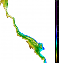 Wet Season (March) Secchi depth climatology (2002-2012) from remote sensing
