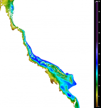 Dry Season (September) Secchi depth climatology (2002-2012) from remote sensing