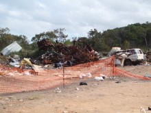 Scrap metal storage on Badu Island, August 2012