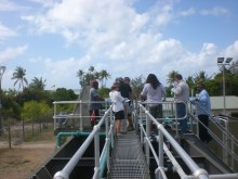 Sewage treatment plant inspection on Masig Islang, August 2012