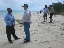 Waste management discussions on Masig Island, August 2012