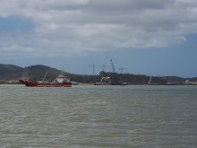Curtis Island gas plant development and boat traffic, November 2012