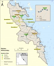 Map of Mackay Whitsundays channel measure sites