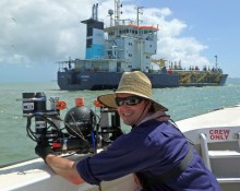 Deployment of a slow descent Water Quality Profiler