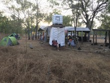 Field camp at Crocodile Station