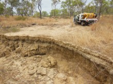 Control gully at the Crocodile experimental gully rehabilitation site