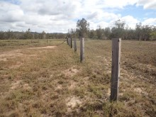 Fencing wetland in RoundHill reserve