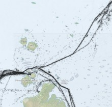 Shipping traffic in Torres Strait - Preview map